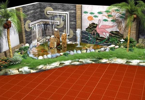 Thiết kế, thi công Tiểu cảnh sân vườn tại TP Vinh Nghệ An